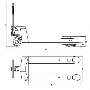 Pallet Truck Drawing